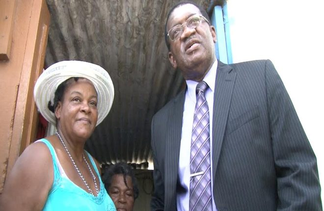 Health Ministry officials visit the elderly