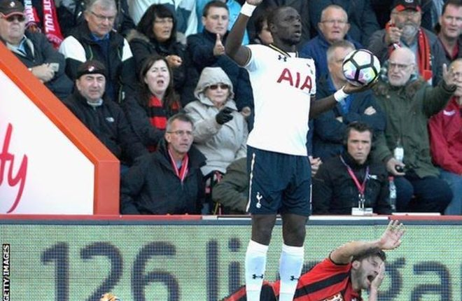 Moussa Sissoko faces ban as Tottenham accept Harry Arter elbow charge