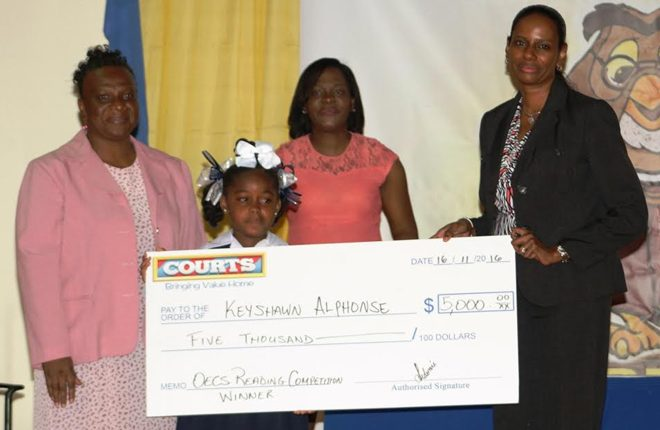 Students showcase excellent reading abilities at 8th annual Courts OECS Reading Competition
