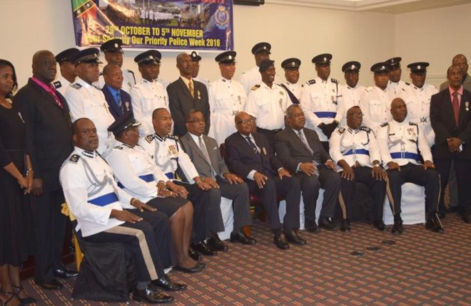 Thirty-two past and present police members receive Long Service and Good Conduct Medal