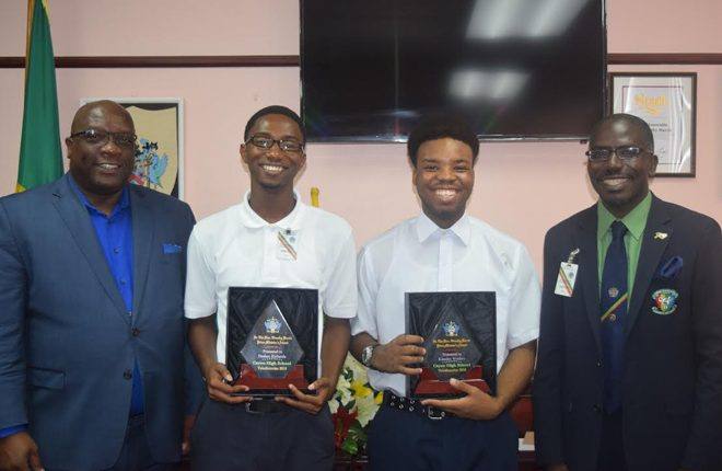PM awards valedictorians of the Cayon High School