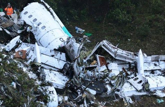 Brazil's Chapecoense football team in Colombia plane crash