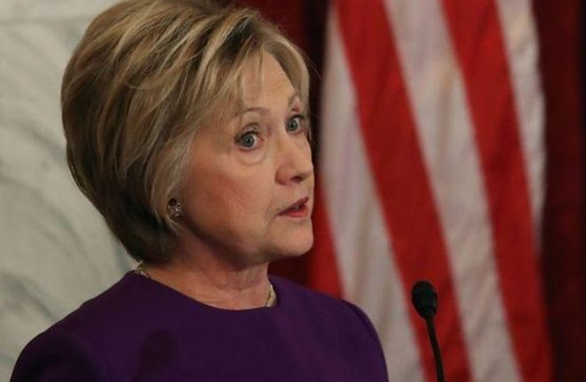 Clinton blames Russia and FBI boss for loss