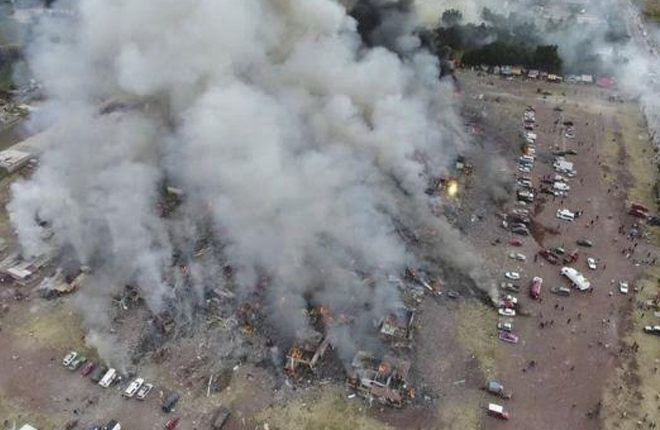 Mexico fireworks blast: Dozens killed in Tultepec explosion