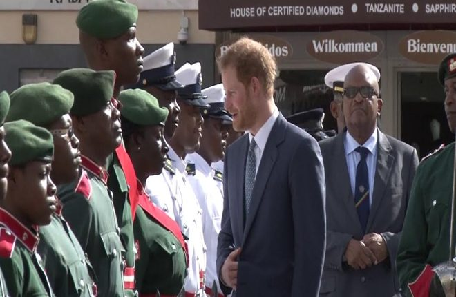 Prince Harry receives welcome to St. Kitts and Nevis