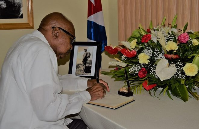 Governor General H.E. Sir Tapley Seaton conveys condolences to Cuban people on the death of former president Fidel Castro Ruz
