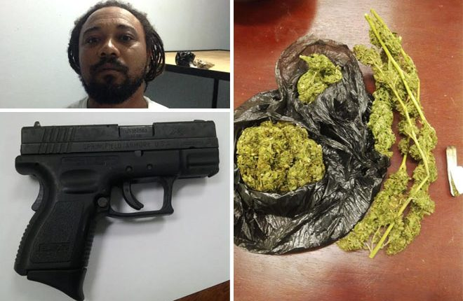 Man charged for illegal firearm and marijuana