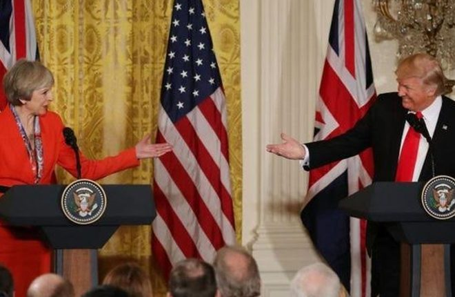 Trump and May 'committed' to Nato