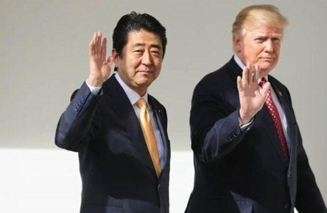 Trump tells Abe: US-Japan ties are 'cornerstone of peace'