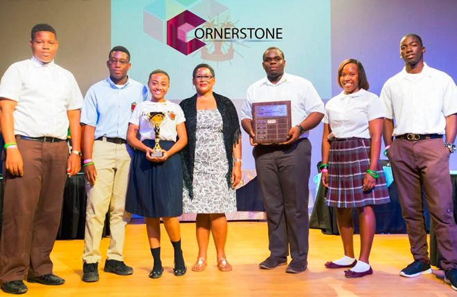 Prime Minister Harris congratulates Team Nevis on winning 45th Leeward Islands Debating Competition