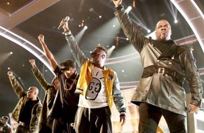 Grammys mix hip flasks with politics