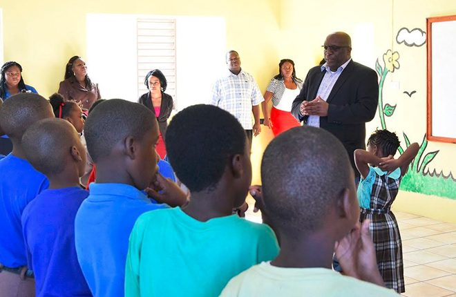 Prime Minister Harris spreads the message of love during visits to schools in his constituency