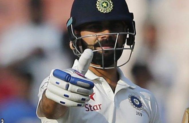 India v Bangladesh: Virat Kohli hits fourth double century as home side dominate