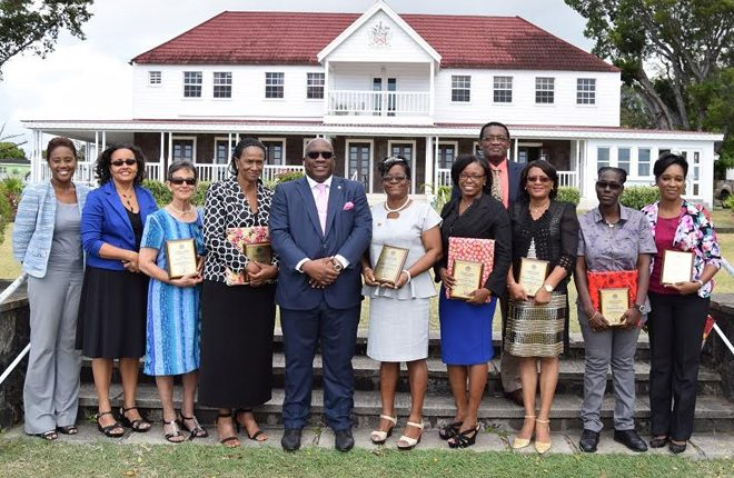 8 women awarded on International Women's Day in St. Kitts