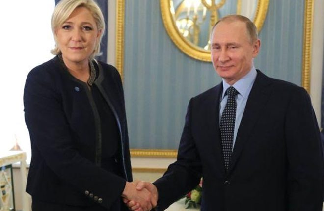 France's Marine Le Pen urges end to Russia sanctions
