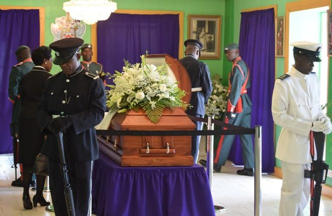 PM Harris honours contribution and memory of the late Governor General, Sir Cuthbert Sebastian