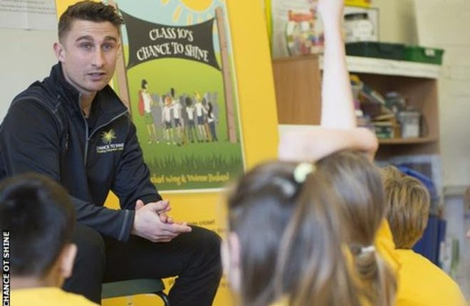 James Taylor: Former England cricketer joins charity initiative in schools