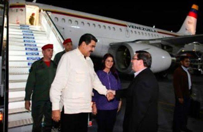 Venezuela president arrives in Cuba for ALBA meeting