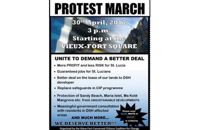 Protest march to take place in St Lucia against multibillion dollar project