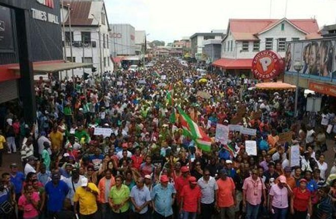 Fuel price hike ignites mass demonstration in Suriname