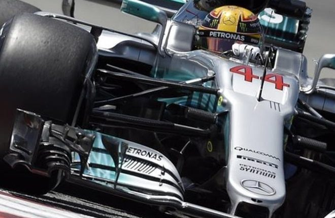 Lewis Hamilton top in Spanish Grand Prix practice with upgraded Mercedes