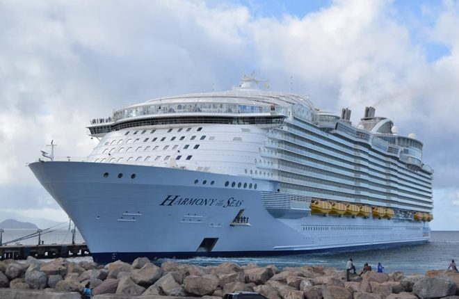 Largest ship in the world makes sixth and final call to St. Kitts and Nevis for 2016-2017 cruise season