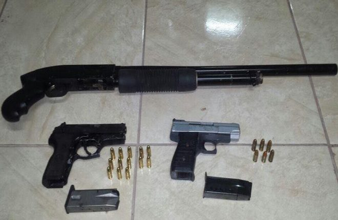 Ongoing police searches net three (3) illegal firearms