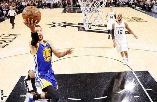 Golden State Warriors beat San Antonio Spurs to reach NBA Finals