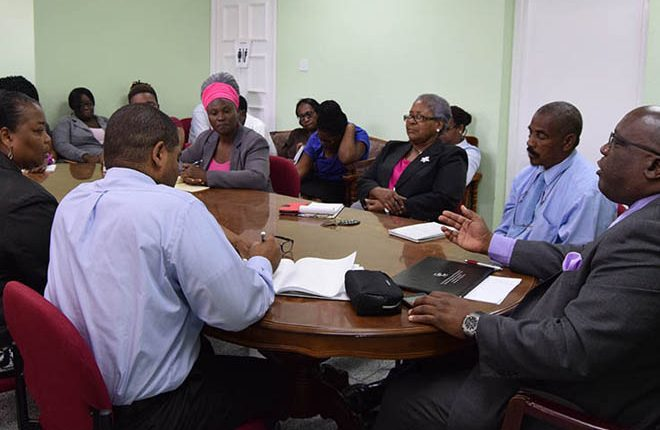 PM Harris outlines his expectations of the Human Resource Management Department during staff meeting