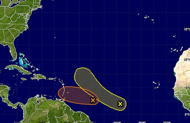 Forecasters Watching Two Potential Storms in the Atlantic