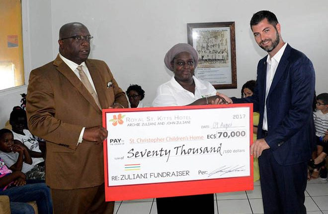 Zuliani family donates $70 thousand to the St. Christopher Children's Home