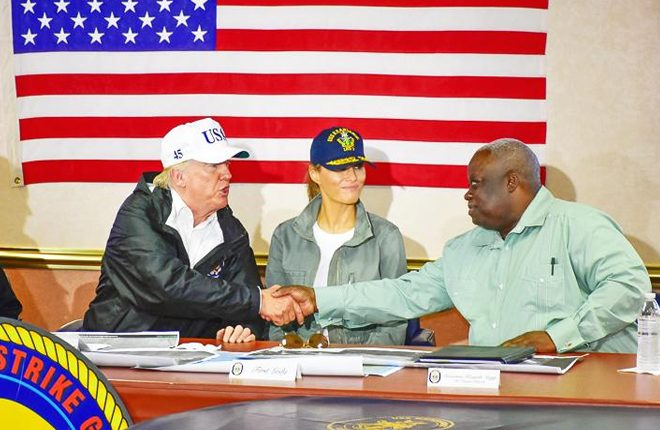 USVI governor discusses recovery with Trump