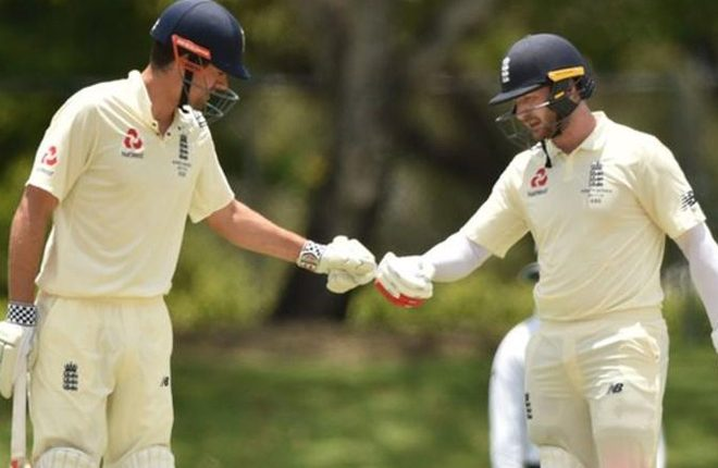 Ashes: Mark Stoneman hits England's first century of tour as Alastair Cook makes 50