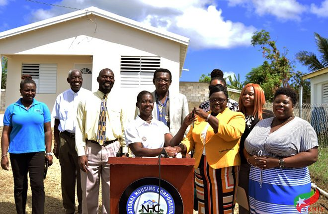 Pamella Cornelius receives keys to newly renovated house