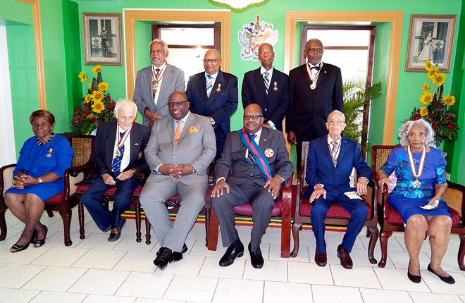 Eight honoured for their sterling contributions to the development of St. Kitts and Nevis