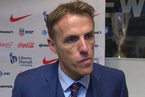 England women's manager Phil Neville praises 'foundations' left by ex-boss Mark Sampson