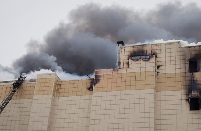 Russia Kemerovo fire: Shopping centre exits 'were blocked'