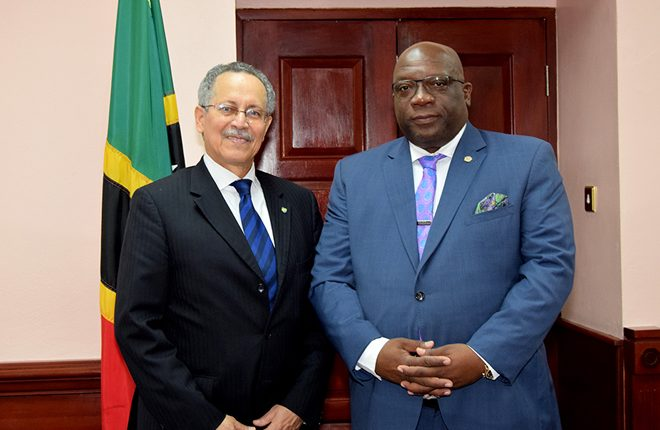 PM Harris holds fruitful discussions with ACP Secretary-General, H.E. Dr. Patrick Gomes