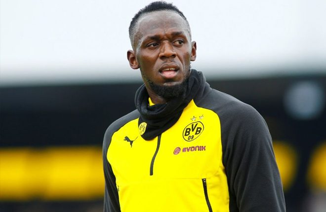 Usain Bolt trains with Norwegian top-flight side Stromsgodset