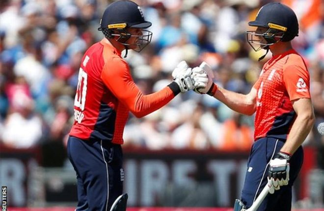 England v India: Rohit Sharma's unbeaten century ensures T20 series win for visitors