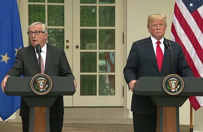 Trump and EU's Juncker pull back from all-out trade war