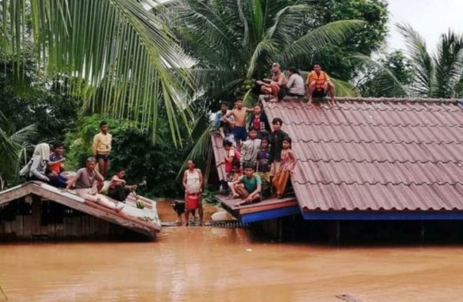 Laos dam collapse: Many feared dead as floods hit villages