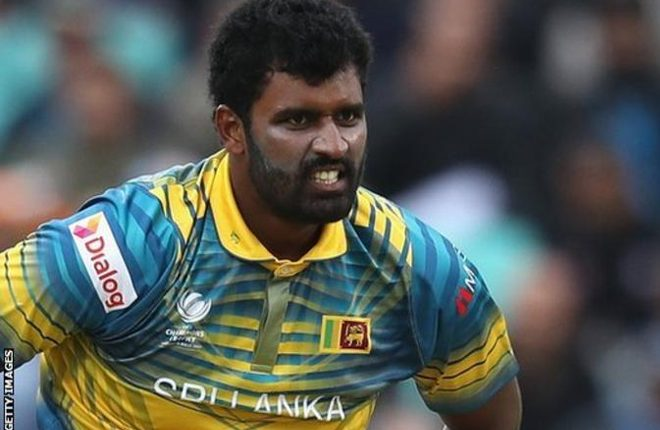 Thisara Perera: Gloucestershire re-sign Sri Lanka all-rounder for opening T20 Blast games