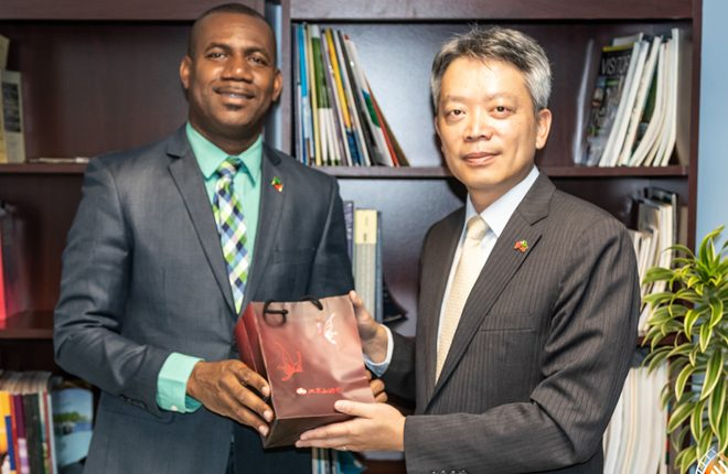 New R.O.C. (Taiwan) Ambassador pays Courtesy Call on Min. of Education