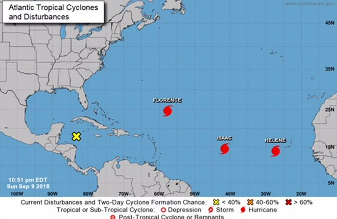 Isaac Becomes the Fifth Hurricane of the 2018 Atlantic Season