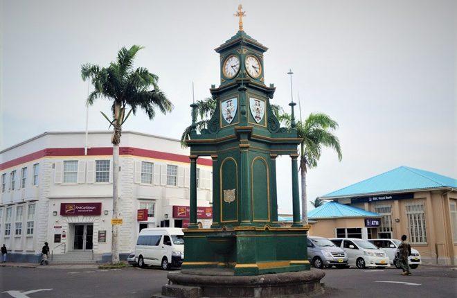 Berkeley Memorial Clock at the Circus in Basseterre Ticks Again