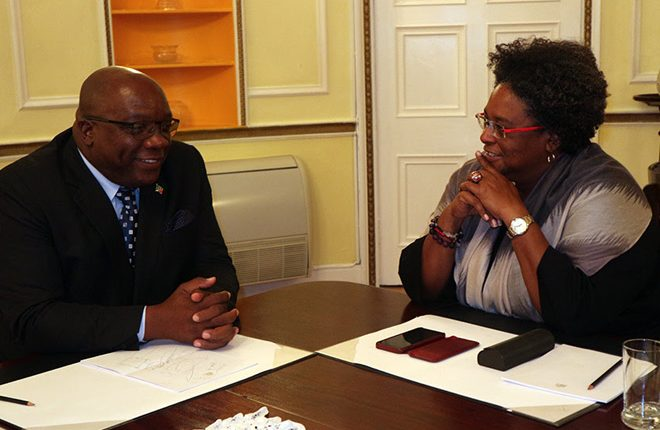 Prime Ministers Harris and Mottley Hold High-level Discussions on Matters of Regional Concern