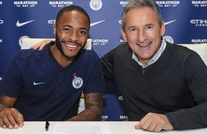 Raheem Sterling: Manchester City forward signs three-year contract extension