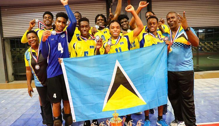 Saint Lucia's winning 2019 ECVA U21 Men's Team
