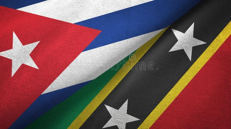 Cuba/St.kitts-Nevis Flags Folded Together